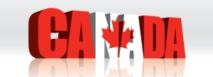3D Vector Canada Word Text Flag